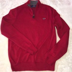 Vineyard Vines Boys Classic Zip Mock Sweater